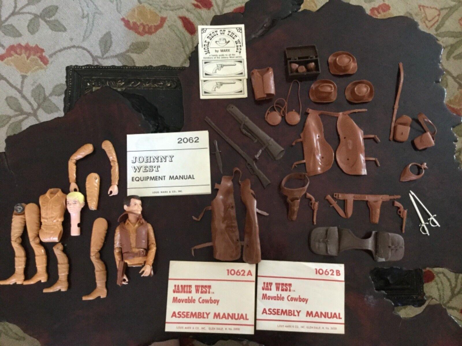 Lote De Vintage Johnny West Serie Aventura-Caballo con Accesorios Surtidos