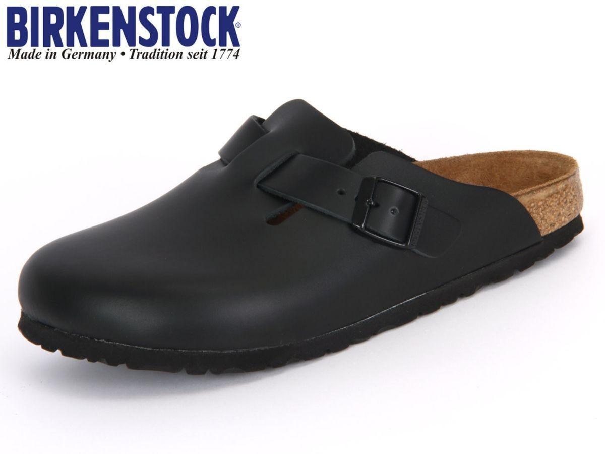 BIRKENSTOCK Boston Clogs 060191 schwarz LEDER Gr. 42 - 49 ~ breites Fußbett