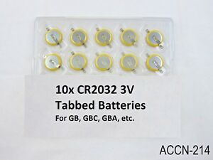 10-Replacement-Battery-Game-Boy-Color-Gameboy-CR2032-Tabbed-GB-GBC-Batteries-US
