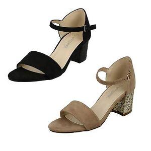 Anne Michelle f1r0158 Donna Sandali Nero UK 3 TO 8 R41A