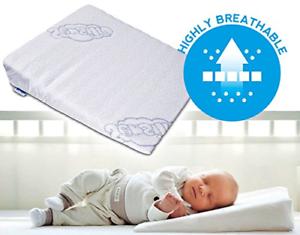 Sensillo Baby Wedge Anti Reflux Colic Pillow Cushion For Pram Crib Cot Bed 37x30