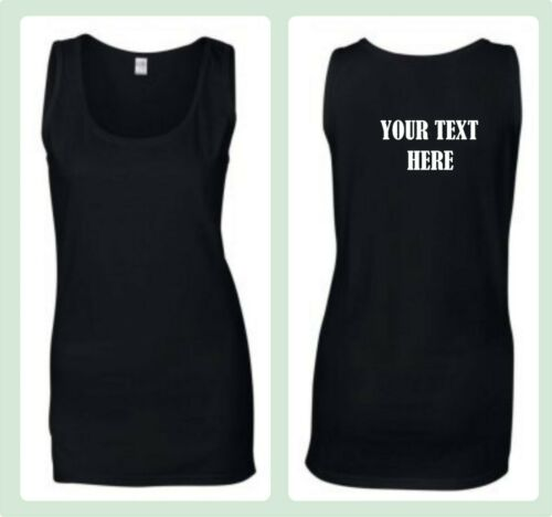 CUSTOM PRINTED PERSONALISED  vest womans sport  HEN CHARITY RUN fashion fitness