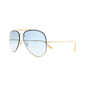 497c3c0012d4c Lunettes de soleil Ray-Ban Blaze Aviateur 3584N 001 19 Or Bleu Clair ...