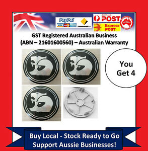Set-of-4-Wheel-Centre-Caps-Holden-63mm-HSV-Coupe-V2-VY-VZ-VE-VF-EX-GTS-Commodore