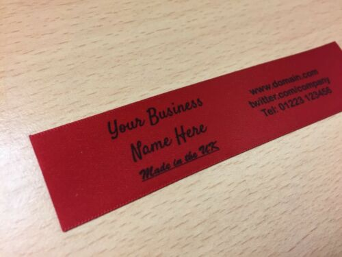 SCARLET RED Sew In//On Personalised School Name Labels Name Garment Tags Labels