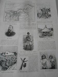 Gravure 1896 La Colombie Inconnue Avec Article