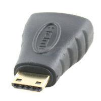 Topzone Gold Plated Mini Hdmi Male To Hdmi Female Adapter Vedio Audio Converter