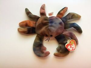 Image is loading TY-Beanie-Baby-CLAUDE-The-Crab-Mint-Extremely- 8f4603b80f4