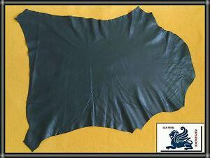 Ziegenleder-Dunkel-Grau-Lederhaut-Echt-Leder-Polsterleder-45x45cm-0-6-0-8mm-AN12