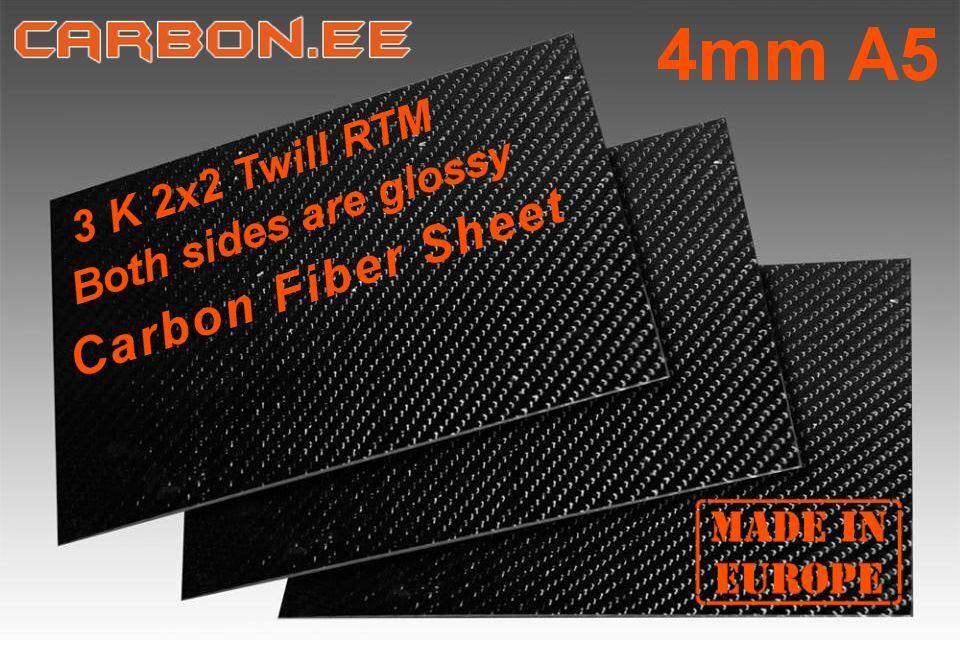 4mm 3K Fibra De Carbono 100% Real Hoja A5 para Quadcopter marco de fibra de carbono Estonia