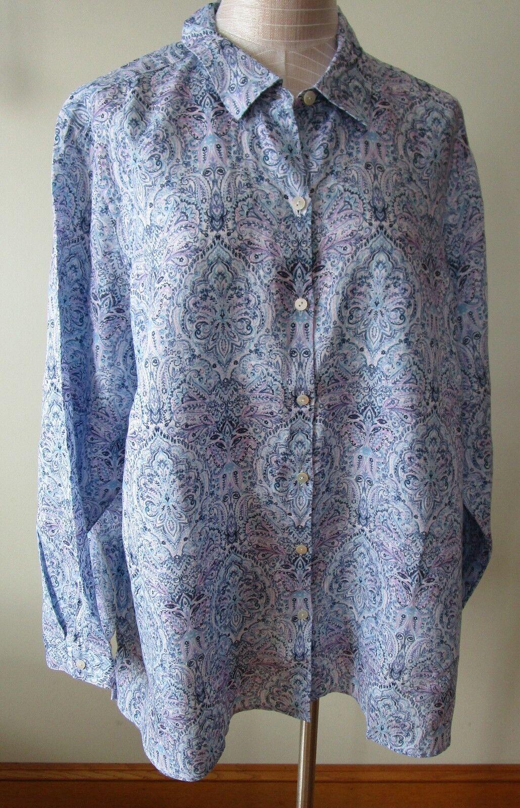 J.Jill     Linen   shirt      2X     NWT      Essential Linen