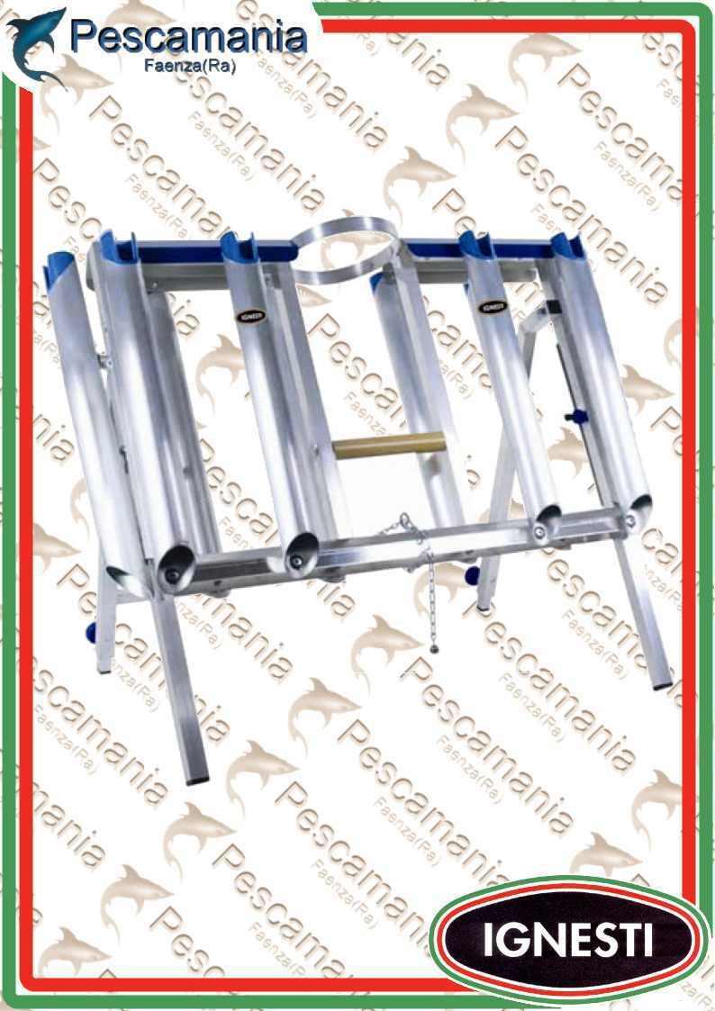 Cavalletto Ignesti porta canne 10 tubi professional (sarfix)