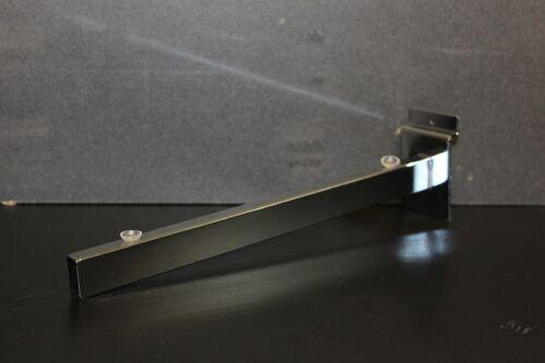 "5 Pairs Slatwall Glass Shelf Brackets 8/"" 10/"" 12/"" 14/"" Retail Display Shelving New"