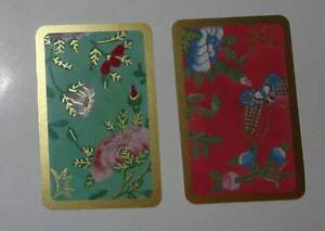PC-20-CASPARI-IMPORTED-PLAYING-CARDS-2-FULL-DECKS-WITH-JOKERS-Famille-Rose-Set
