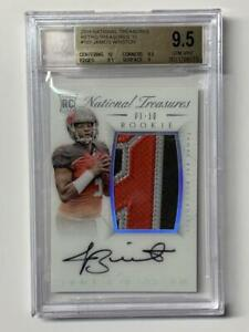 Jameis Winston 2016 National Treasures Retro Treasures RPA #1/10 BGS 9.5
