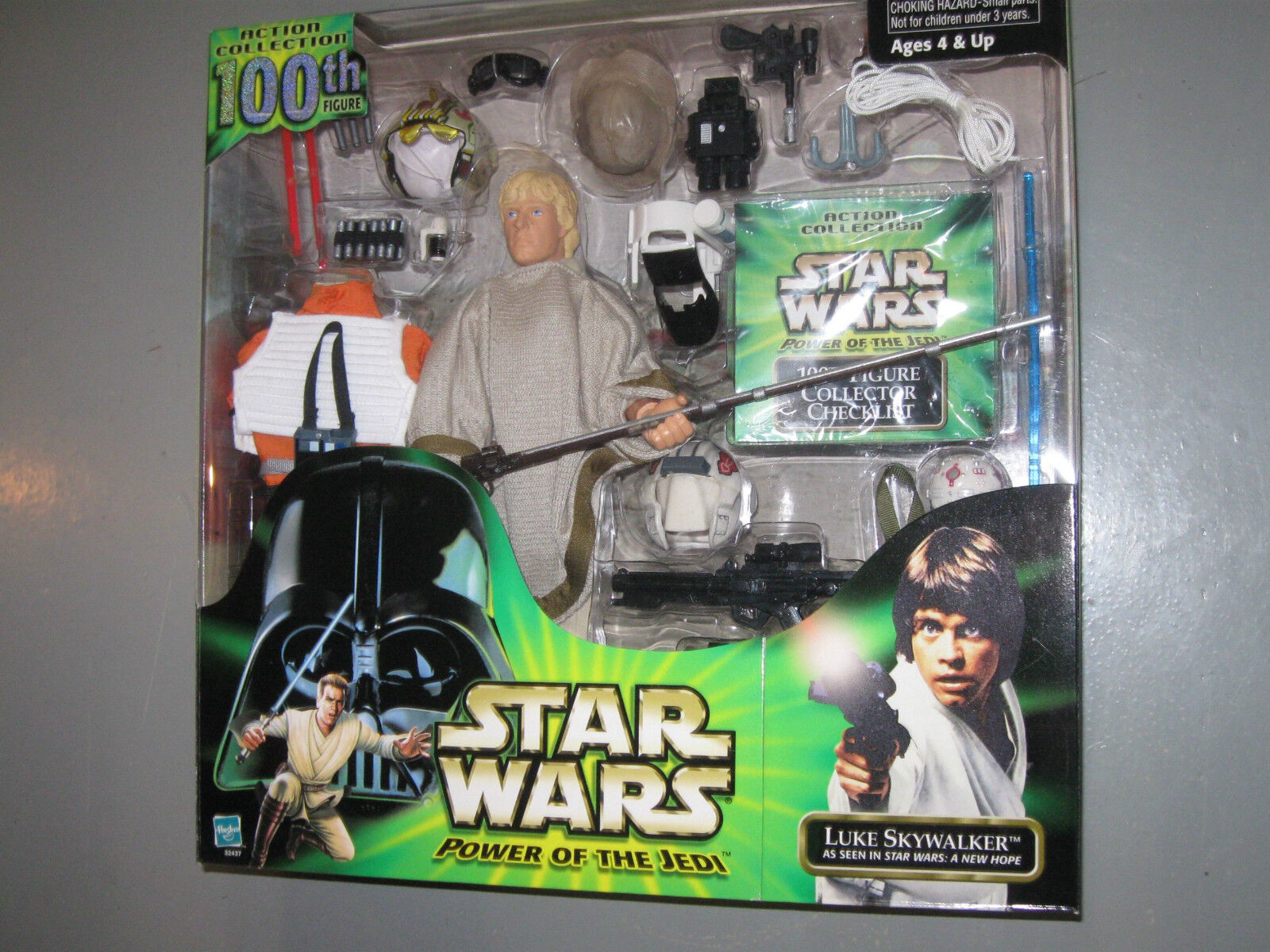 Hasbro Star Wars 12  Luke Skywalker Power Of The Jedi 100th Deluxe Figure NIB