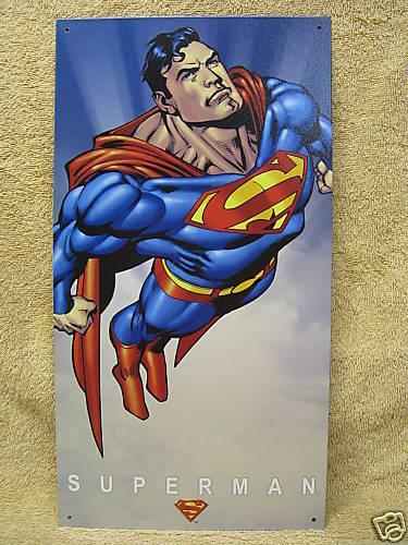 Superman Super Hero Tin Metal Sign Comic Clark Kent