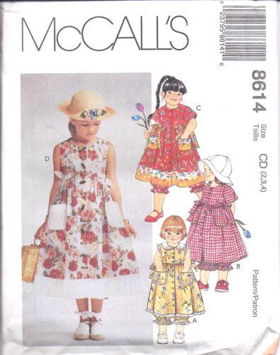8614 Vintage UNCUT McCalls SEWING Pattern Girls Dress Pantaloons Easter OOP FF