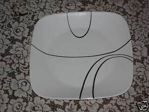Image is loading 4-New-Corelle-Square-Simple-Lines-Dinner-Plates & 4 New Corelle Square Simple Lines Dinner Plates | eBay