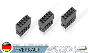 3Stk-2x5Pin-10P-2-54mm-ISP-Double-Row-Female-Straight-Header-Pitch-Socket-Pin