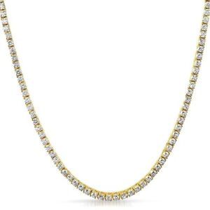 Details about 3mm Lab Made Iced Out Small Stone Gold Tennis Chain Men or  Women 42b4a37fc
