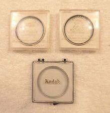 Vintage Camera Portrait Lens Filters Kodak Porta +3 & Ednalite Gold +2 FREE SHIP