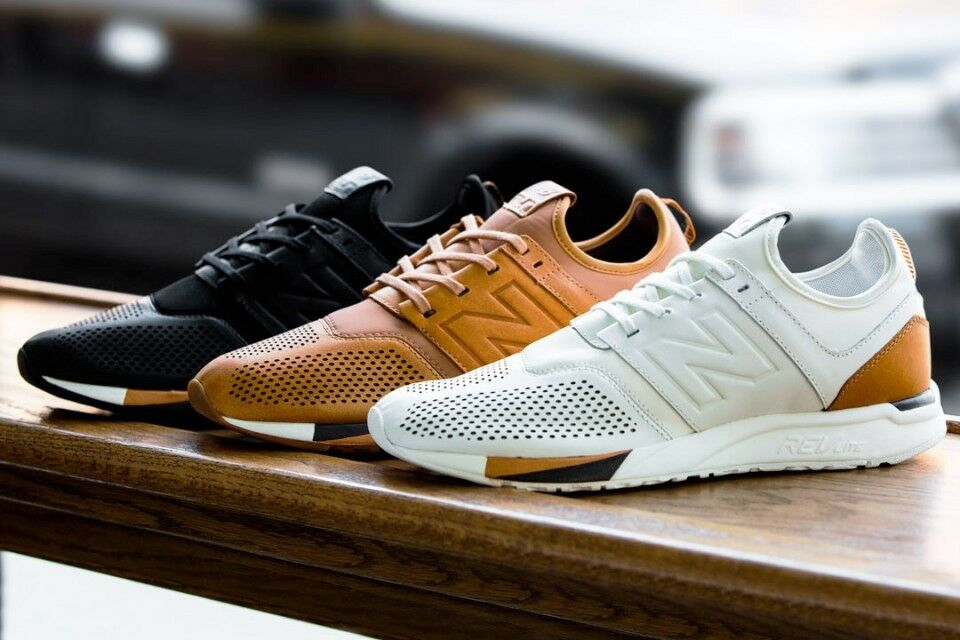 New Balance 247 Luxe Pack MRL247 - White Tan Brown Black - Select Size - Men's