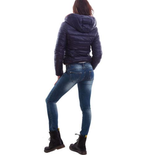 Giacca donna eco pelliccia cappuccio giacchetto giubbino double face nuova H-803