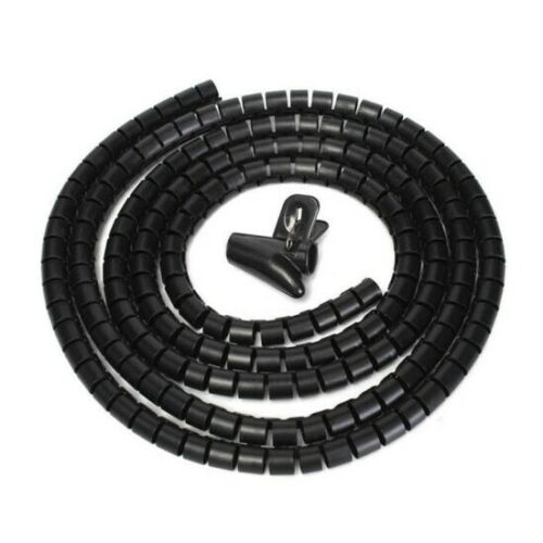 Conductor Grip Office Home 1 Metre Cable Tidy PC TV Wire Organising Wrap Spiral