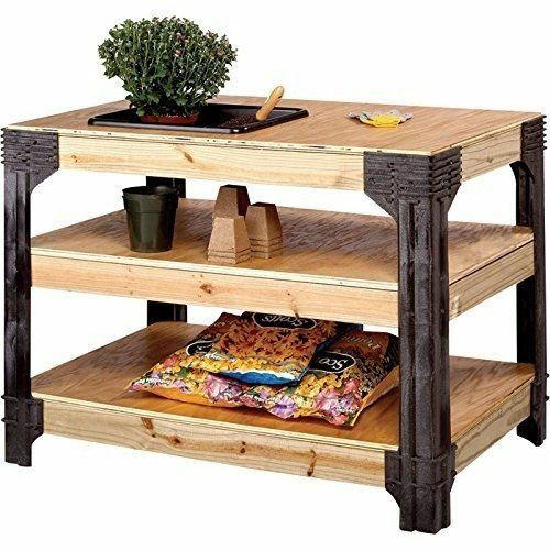 Outstanding Workbench Table Kit Diy Bench Custom Storage Wooden Shelf Garage Shop Home Download Free Architecture Designs Viewormadebymaigaardcom