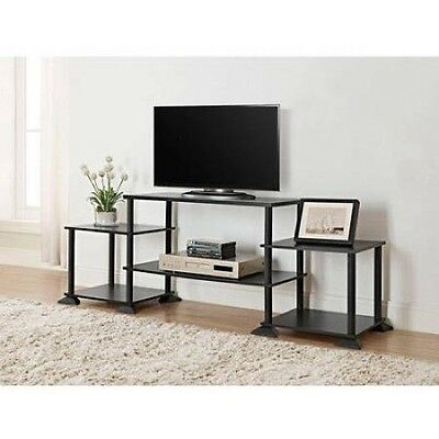 "unique black TV stand table Mainstays Entertainment Center for TVs 15"" up to 40"""