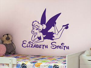 Image is loading Personalized-Name-Wall-Decal-Tinkerbell-Disney-Vinyl-Decal- & Personalized Name Wall Decal Tinkerbell Disney Vinyl Decal Sticker ...