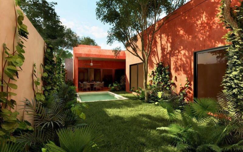 Casa de una planta en privada al norte de Merida