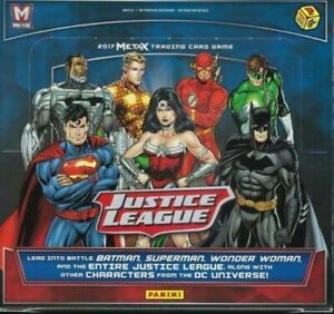 JUSTICE-LEAGUE-META-X-Booster-Box-Sealed-24-Packs-Panini-Trading-Card-Game-METAX