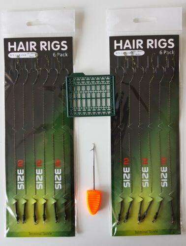 Karpfenhaken Angelhaken  HAIR RIGS Boiliehaken  Hacken Vorfach Grösse 2 #