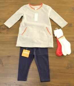 NEW Gymboree FUN IN SNOW Overalls Dress Bodysuit Hat Socks 6 12 18 24 Mo