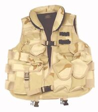 DELUXE VEST DESERT CAMO Tactical Vest Soft Collar Swat Paintball Airsoft Army