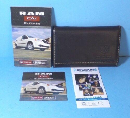 14 2014 Dodge Ram C//V Commercial Van Cargo Van owners manual//user guide