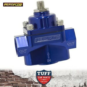 Aeroflow-Blue-Billet-2-Port-Carby-Fuel-Pressure-Regulator-FPR-1-4-PSI-3-8-034-NPT