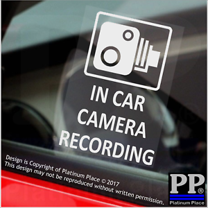 4 x In Car Camera Recording Window Stickers-CCTV Security Signs-Van