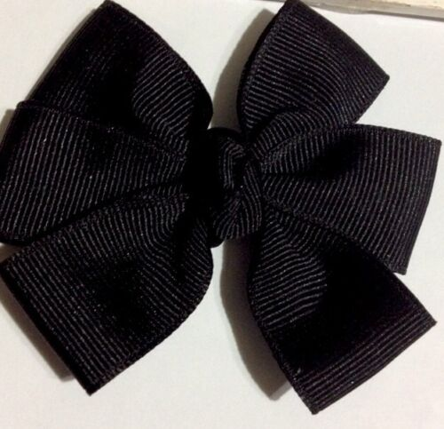 Pure Black Hairbow 3 Inches Magic Hairbow machine Washable