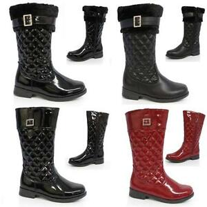GIRLS-SCHOOL-BOOTS-INFANTS-BIKER-PARTY-RIDING-WESTERN-WINTER-QUILTED-SHOES-SIZE