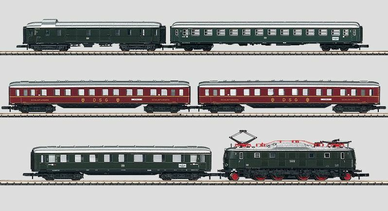 barato 81434 Marklin Z Br E 18 Locomotora 5 Poste con con con 5 Express Tren Pasajero Coches  El nuevo outlet de marcas online.