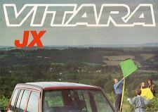 Suzuki Vitara JX 5-dr Estate 1993-94 UK Market Foldout Sales Brochure