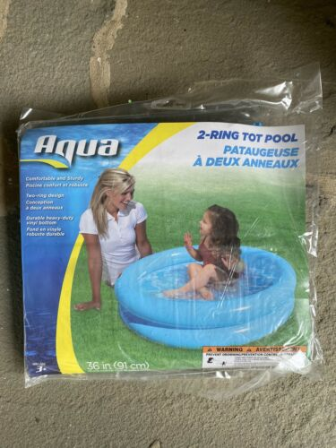 *SAME DAY FAST SHIPPING* Ring Inflatable Blue Pool For Kids! 2