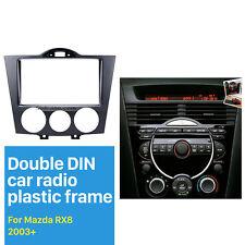 Double Din Car Radio Fascia Auto Stereo Panel Refitting Kit for 2003+ Mazda RX8