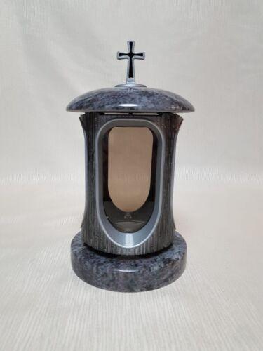 Grablampe Granit Orion Grabvase Grablaterne Grableuchte Set