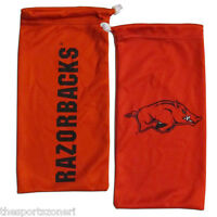 Arkansas Razorbacks All In One Microfiber Eyewear Storage Bag / Cleaning Cloth