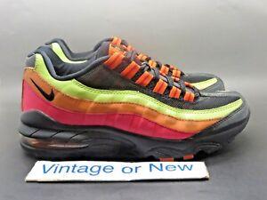 online retailer f6cb1 9b0b4 Image is loading Girls-039-Nike-Air-Max-039-95-Black-