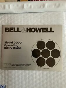 Bell-amp-Howell-Model-3000-Projector-Manual-Instruction-Guide-Book-Free-Shipping